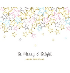 Merry christmas design with gold star decoration vector