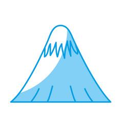 Mountain icon image vector