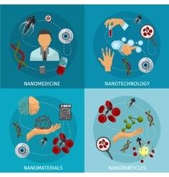 Nanotechnology Icon Set vector image