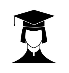 New graduate student icon vector image