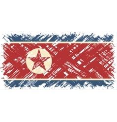 North Korean grunge flag vector