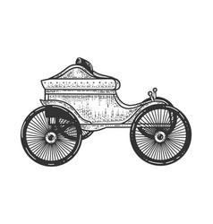 old car transport sketch vector image