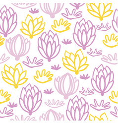 pastel succulent plants seamless pattern print vector image