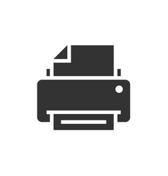 printer black icon vector image