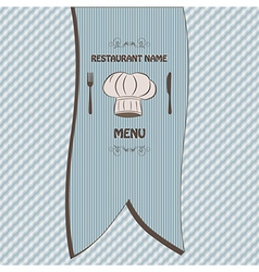 Restaurant menu label brochure design element vector