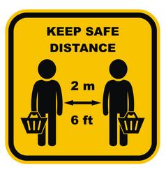 safe distance basket vector image
