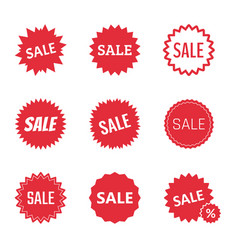 sale icons set tag design vector image