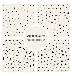 Seamless Black And White Jumble Pattern vector