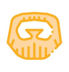 Short beard mustache icon outline vector