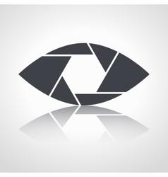 Shutter eye conceptual flat abstract icon vector image