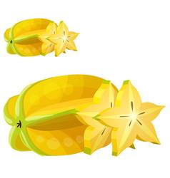 star fruit carambola cartoon icon vector image