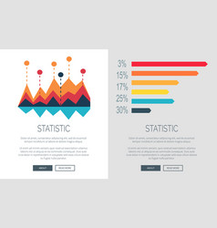 Statistic representation colorful web page design vector