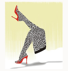 Stockings with cheetah pattern vector image