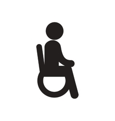 Stylish black and white icon man in wheelchair vector