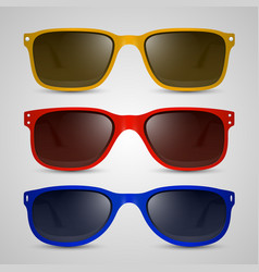 Sunglasses color vector