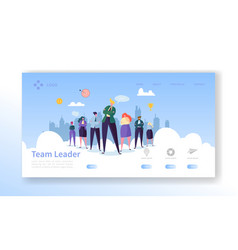 Team leader landing page leadership concept vector