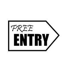 thin line free entry icon vector image