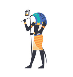 Thoth - god of moon wisdom and magic deity or vector