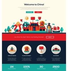 traveling china website header banner vector image