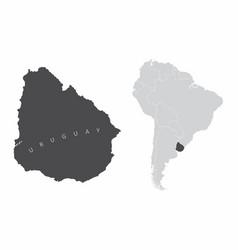 uruguay south america vector image