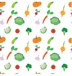 Vegetables set on a white background vector