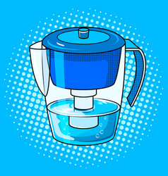 Water jug filter pop art vector