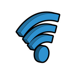 Wifi technology to connect in the digital network vector