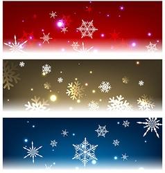 Winter backgrounds set vector