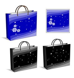 set of packages Blue and black winter and night vector image vector image