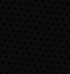 Black hexagon seamless retro background vector image vector image