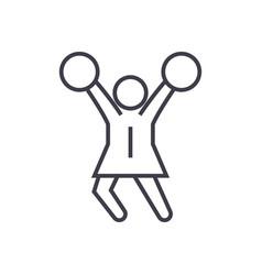 cheerleader linear icon sign symbol on vector image