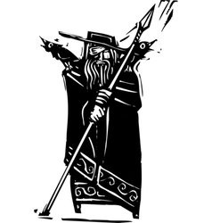 Norse God Odin vector image vector image