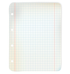 sheet of grid paper vector image vector image