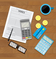 tax financial view top vector image vector image