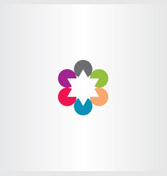 Abstract business star logo icon vector