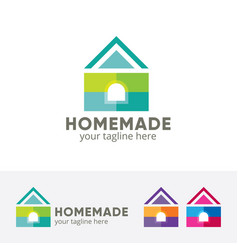 house design concept colorful vector image