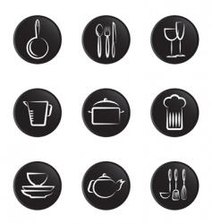 kitchenware objects vector image vector image