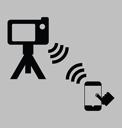 remote shooting vector image vector image