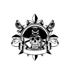 steering wheel and skull vector image vector image
