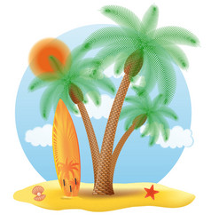 tropical palm tree 06 vector image vector image