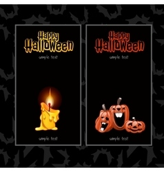 Two vertical cards for Halloween vector image