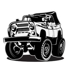 Cartoon jeep vector image vector image