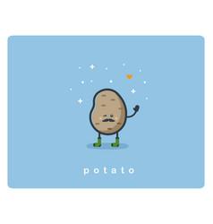 flat potato icon food cartoon cute character vector image vector image