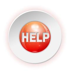 Help Button vector image