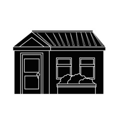 isolated home building vector image vector image