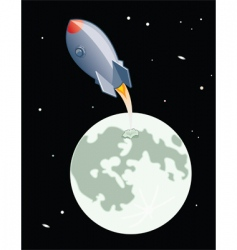 moon launch vector image vector image