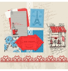 Paris Vintage Set vector image