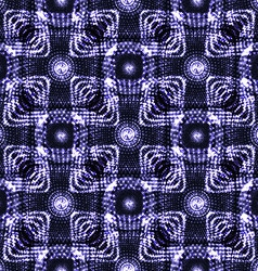 seamless blue glowing ethnic pattern vector image