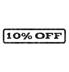 10 percent off watermark stamp vector