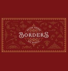a set vintage borders and design elements vector image